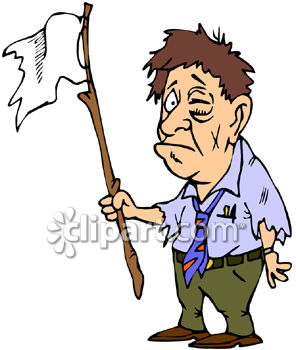 0060-0807-1220-5847_A_Beat_Up_Man_Waving_the_White_Flag_of_Surrender_clipart_image.jpg